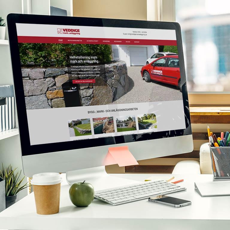 Hemsida Business webblösning André med Vänner Varberg