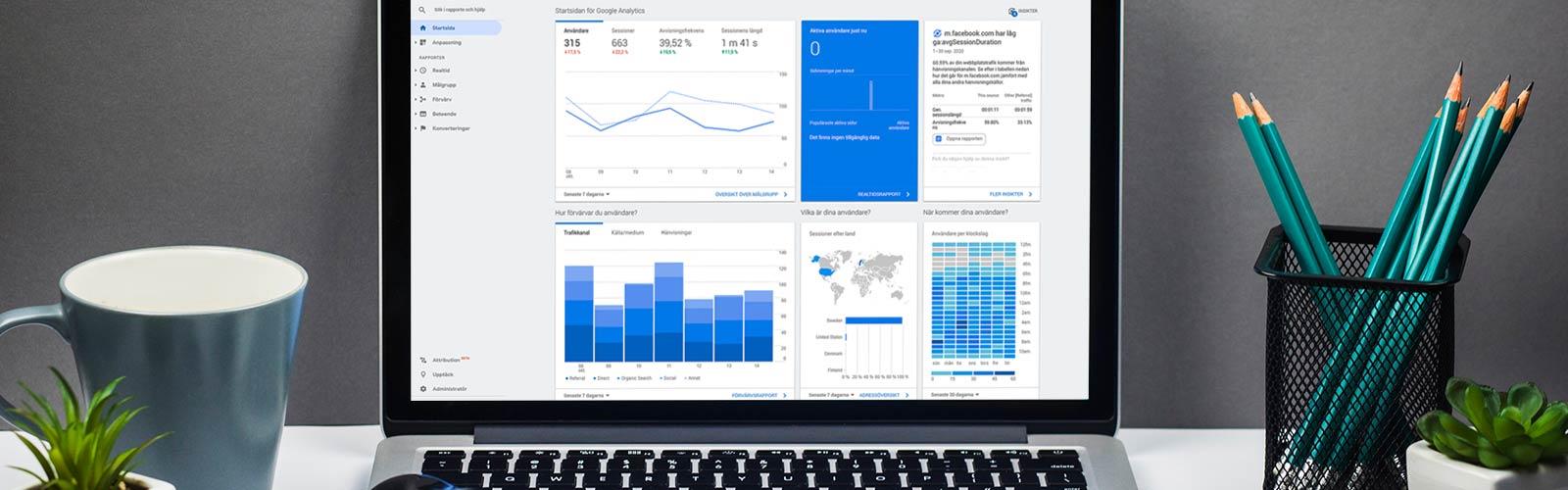 Google Analytics Analys webbstatistik
